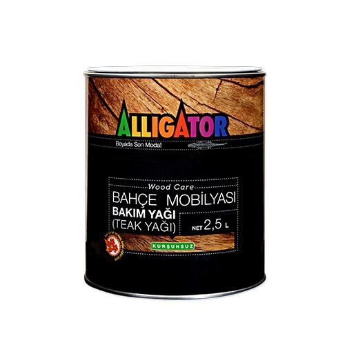 Alligator Wood Care Bahçe Mobilyası Bakım Yağı (Teak Yağı) 2.5 Litre