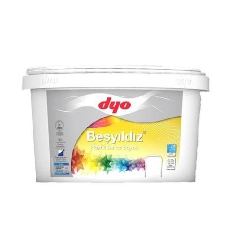 DYO Beşyıldız Plastik Duvar Boyası Beyaz 2.5 Litre