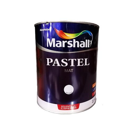 Marshall Pastel Mat Solvent Bazlı Boya Beyaz 2.5 L.
