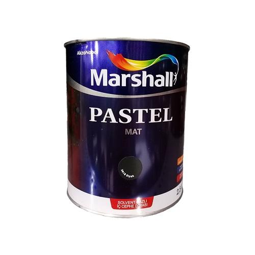 Marshall Pastel Mat Solvent Bazlı Boya Siyah 2.5 L.