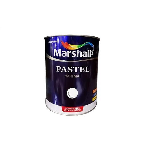 Marshall Pastel Yarı Mat Solvent Bazlı Boya Beyaz 0.75 L.