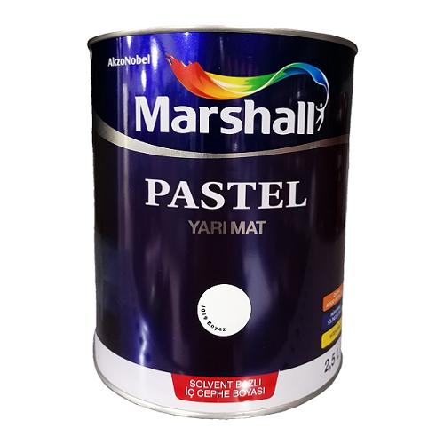 Marshall Pastel Yarı Mat Solvent Bazlı Boya Beyaz 2.5 L.