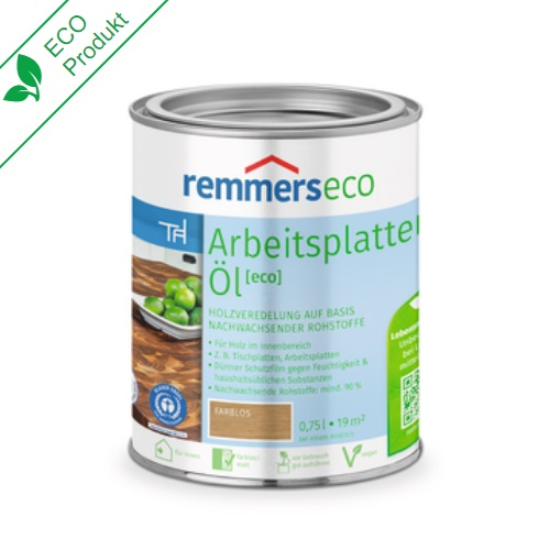 Remmers Eco Arbeitsplatten Öl Farblos Ahşap Bakım Yağı 0.75 Litre